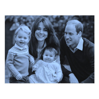 De casual familie 2015 van Royals Kate William Briefkaart