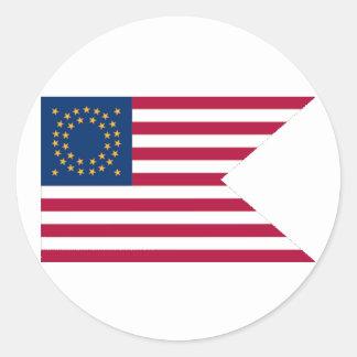De Cavalerie Guidon Round Sticker van de Unie
