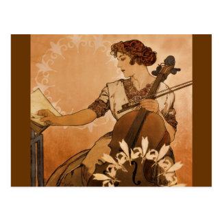 De cellist briefkaart