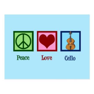 De Cello van de Liefde van de vrede Briefkaart