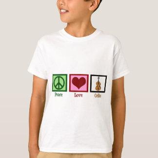 De Cello van de Liefde van de vrede T Shirt