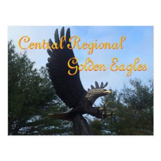 De centraal-regionale Gouden Middelbare school van Briefkaart
