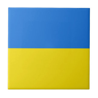 De ceramiektegel van de Vlag van de Oekraïne Keramisch Tegeltje