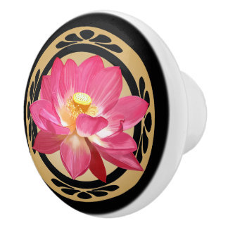 De Ceramische Knop  van de Bloem van Lotus