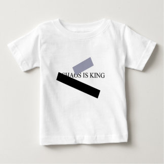 DE CHAOS IS KONING BABY T SHIRTS