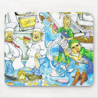 De Chaos van de keuken Muismatten