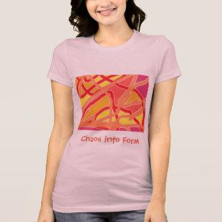De Chaos van de T-shirt van Jersey van vrouwen in
