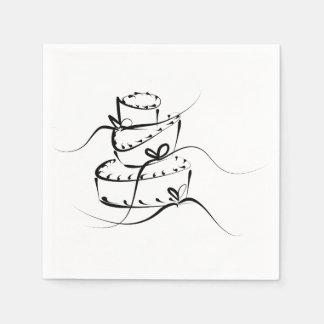 De chaotische Servetten van het Huwelijk Papieren Servetten