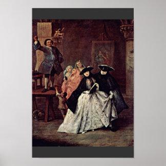 De charlatan door Longhi Pietro (Beste Kwaliteit) Poster