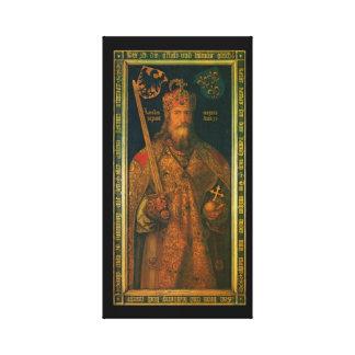De Charlemagne Uitgerekte Druk van het Canvas
