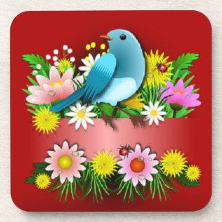 De charmante en Vrolijke Onderzetters van de Vogel