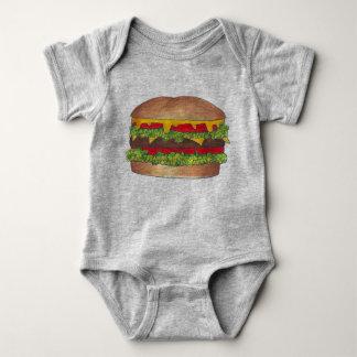De Cheeseburger Foodie van de Hamburger van de Romper