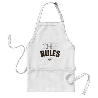 De chef-kok beslist de Schort van de Keuken