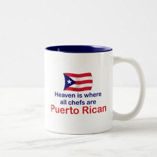 De Chef-koks van het Puerto Ricaan Tweekleurige Koffiemok