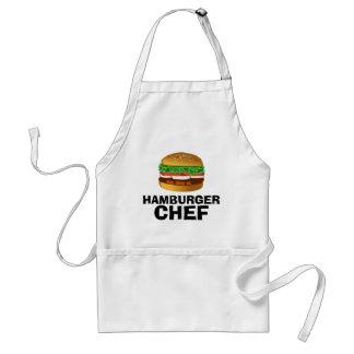 De chef-kokschort van de hamburger standaard schort