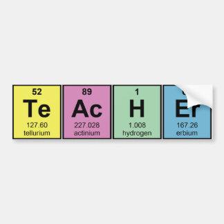 De Chemische Elementen van de Leraar van de Bumpersticker