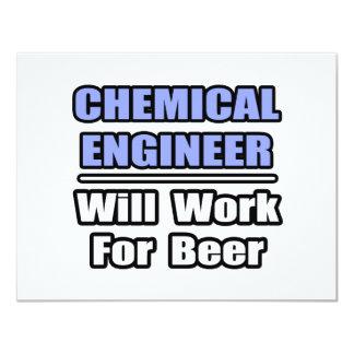 De chemische Ingenieur zal… voor Bier werken 10,8x13,9 Uitnodiging Kaart