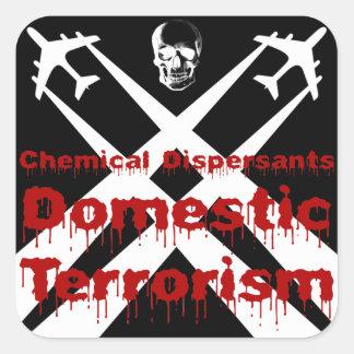 De chemische Verspreiders zijn Binnenlands Vierkant Stickers