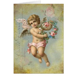 De Cherubijn van Valentijn, blauw, Verjaardag Briefkaarten 0