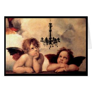 De Cherubijnen die van Madonna van Sistine een Kaart