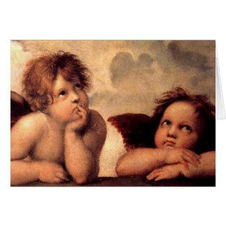 De Cherubijnen van engelen Kaart