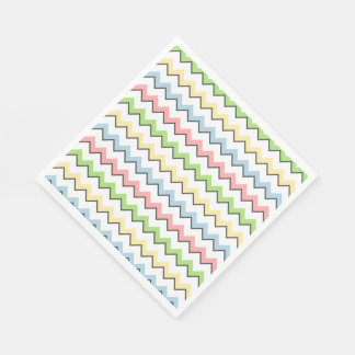 De chevron-Daling van de pastelkleur Schaduw door Papieren Servet