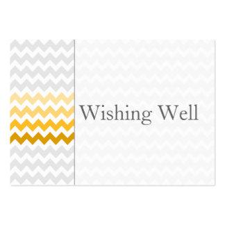 De chevron gele ombre die van mod. goed kaarten visitekaart sjablonen