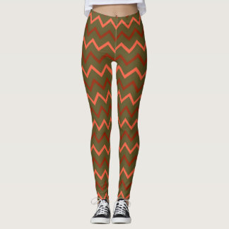 De Chevron van de herfst Leggings