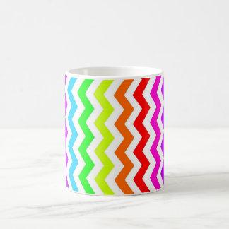 De chevron van de regenboog koffiemok
