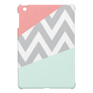 De Chevron van het Blok van de Kleur van het koraa iPad Mini Case
