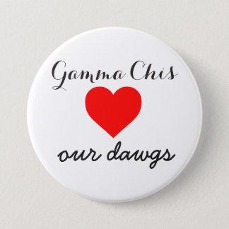De Chi van gamma's houdt van dawgs Ronde Button 7,6 Cm