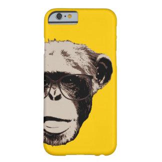 De Chimpansee van Geeky in Gele iPhone 6 van Glaze Barely There iPhone 6 Hoesje