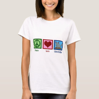 De Chinchilla's van de Liefde van de vrede T Shirt
