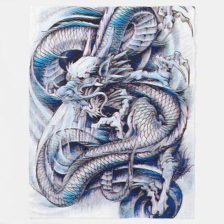 De Chinese Gouache van de Draak van de Keizer Fleece Deken