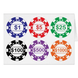 De Chipkaart van het van het casino Briefkaarten 0