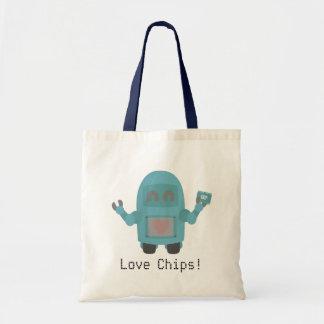 De Chips van de Liefdes van de robot Draagtas