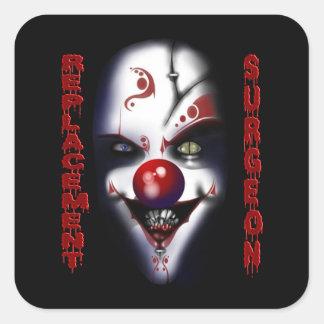 De Chirurg van de vervanging - Kwade Clown Vierkante Sticker