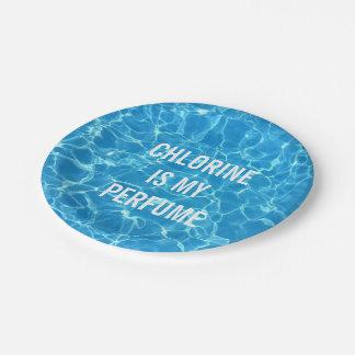 De chloor is Mijn Typografisch Zwembad van het Papieren Bordje