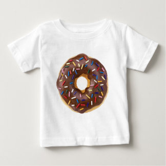 De chocolade bestrooit Doughnut Baby T Shirts