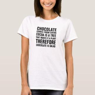 De chocolade komt uit cacao, is de cacao een boom, t shirt
