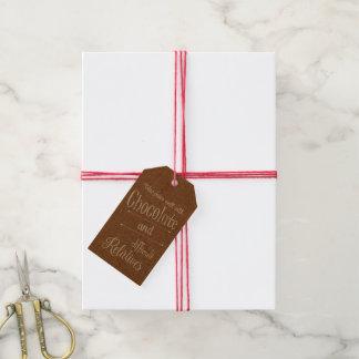 De Chocolade van kraftpapier en het Label van de Cadeaulabel