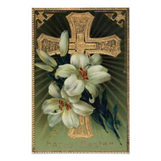 De Christelijke Gouden DwarsLelie van Pasen Fotoprints