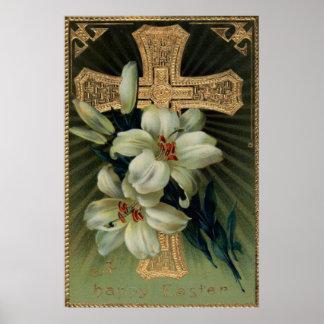 De Christelijke Gouden DwarsLelie van Pasen Poster