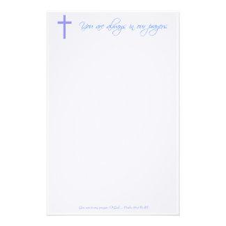De Christelijke Kantoorbehoeften van het Gebed Briefpapier