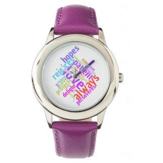 De Christelijke Liefde is Geduldig Horloges