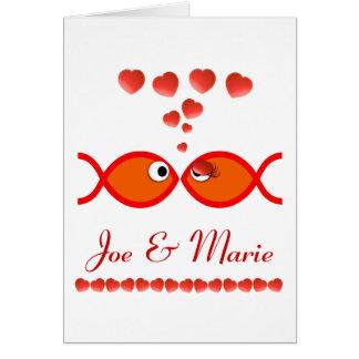 De Christelijke Symbolen van Valentijn - Oranje v1 Briefkaarten 0