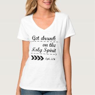 De Christelijke T-shirt - Witte v-Hals - wordt