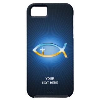 De Christelijke Vissen kruisen de Unieke Giften Tough iPhone 5 Hoesje