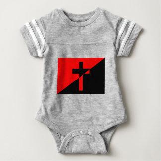 De Christelijke Vlag van het Christendom van de Baby Bodysuit