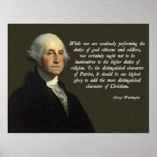 De Christen van George Washington Poster